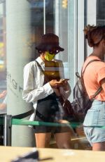 Sofia Boutella Eats healthy at Sweetgreen in Downtown Manhattan