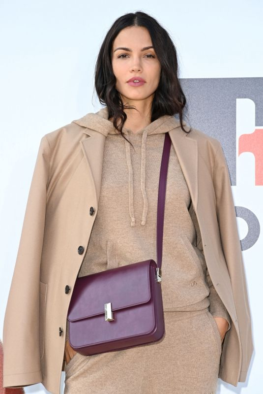 Sofia Resing Attends the Boss fashion show during the Milan Fashion Week - Spring / Summer 2022