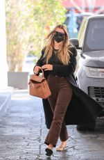 Sofia Richie Rocks a long coat heading to a meeting In Beverly Hills