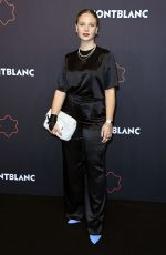 Sonja Gerhardt At Montblanc UltraBlack Collection Launch in The Feuerle Collection Berlin