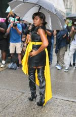 Taraji P. Henson Attends the Moschino fashion show at Bryant Park in New York City