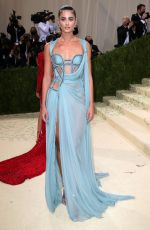 """Taylor Hill At 2021 Met Gala """"In America: A Lexicon of Fashion"""" in New York"""