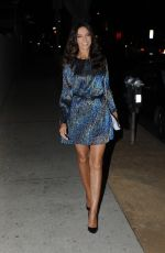 Terri Seymour Leaving The Abbey after the Christmas in September toy drive event in West Hollywood