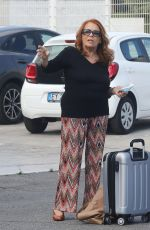 Valeria Fabrizi Arriving at rehearsals for