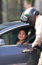Vanessa Hudgens Starts her week with a ticket for using her phone while driving in West Hollywood