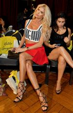 Victoria Silvstedt Attends the AADNEVIK show during London Fashion Week at The Royal Horseguards in London