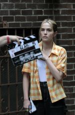 Zoey Deutch Seen on set filming for