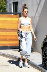 Alessandra Ambrosio Was pictured while leaving Pilates class in West Hollywood