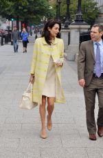 Amal Alamuddin Clooney Looking fashionable as she steps out for a meeting in Washington