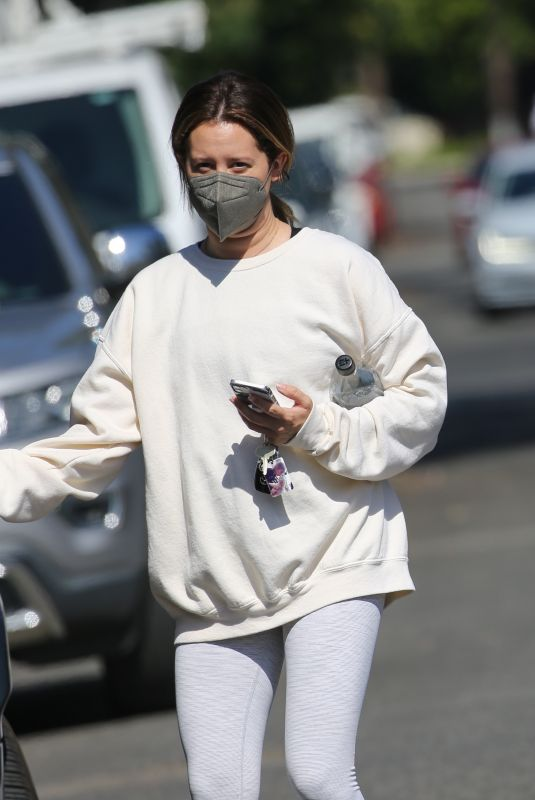 Ashley Tisdale Leaving the gym in West Hollywood