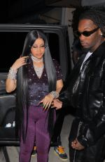 Cardi B Gets an early start celebrating her 29th birthday with her hubby Offset and family at Giorgio Baldi in Santa Monica