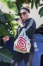 Erika Jayne Pictured returning home with a shopping bag from Target in Los Angeles