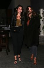 Katharine McPhee Enjoys a night out for dinner with friends at Craig