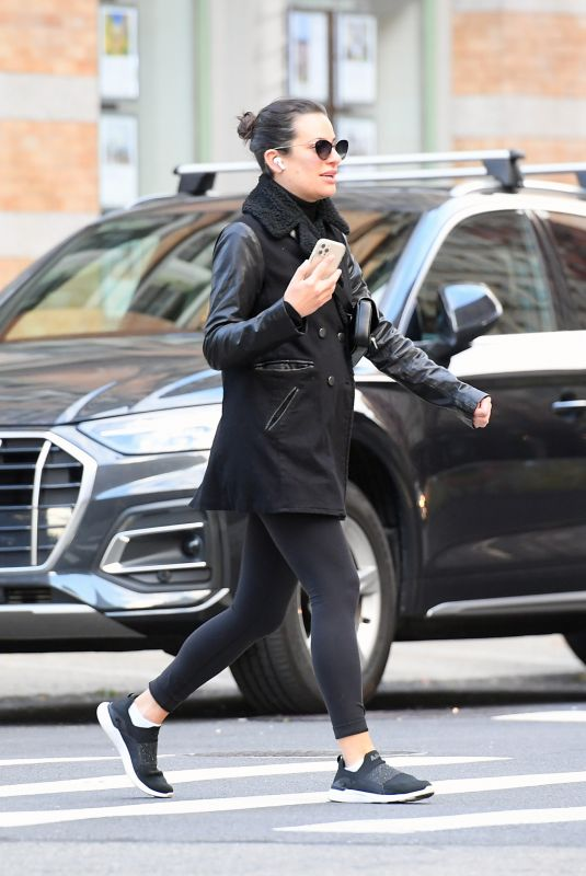 Lea Michele Spotted out in Tribeca in New York City