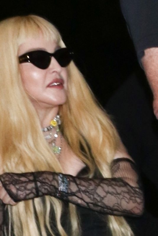 Madonna Arrives at the Red Rooster in Harlem, New York