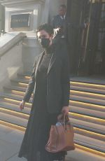 Rebecca Hall Was seen checking out of her hotel in London
