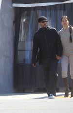 Shanina Shaik Grabs lunch with her boyfriend at Crossroads in West Hollywood