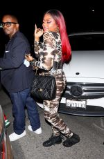 Taraji P. Henson Takes a step on the wild side in animal print arriving at Cardi b's 29th birthday party in Los Angeles