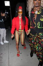 Teyana Taylor Brings out her island flavor at Cardi b's 29th birthday party in Los Angeles