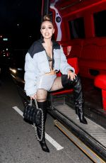 Woah Vicky (Victoria Rose Waldrip) Takes photos outside Cardi b's 29th birthday party in Los Angeles