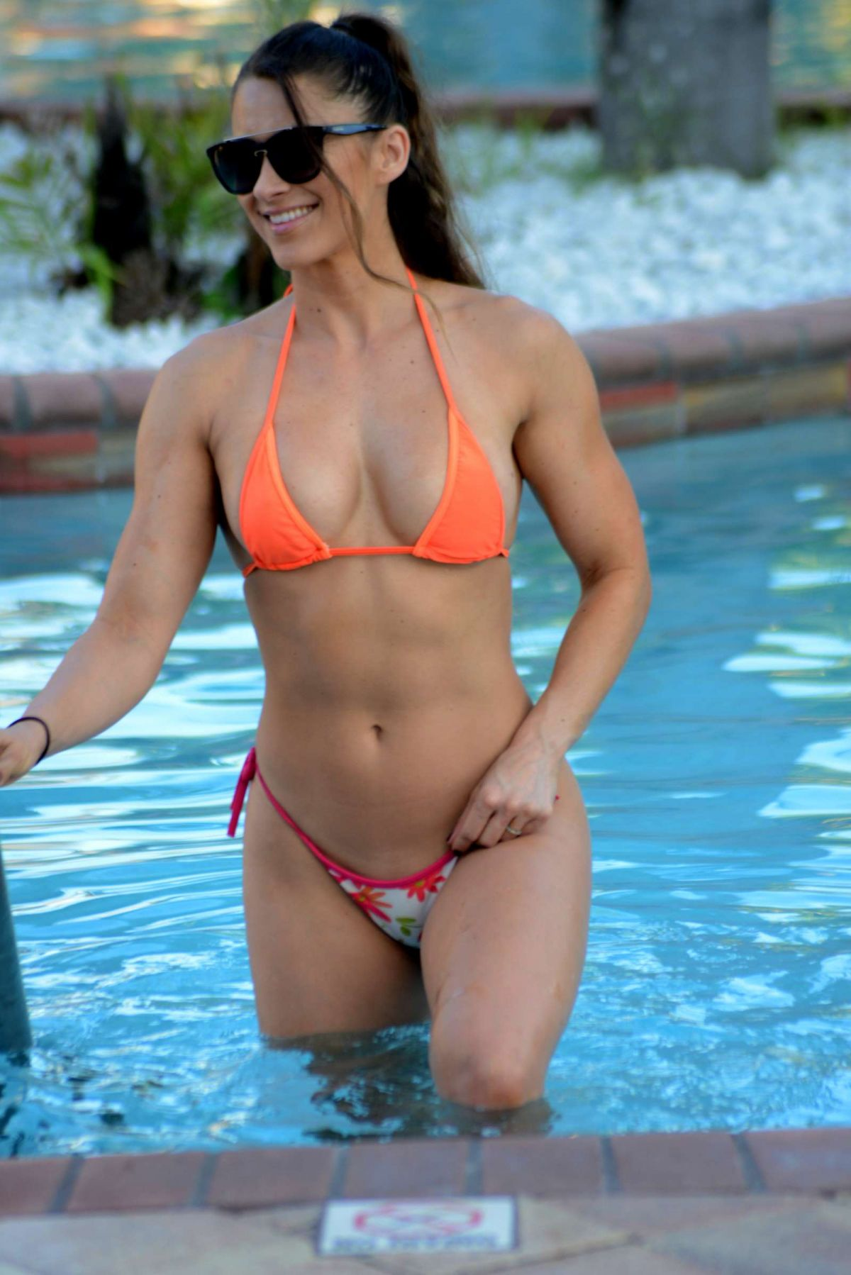 Anais Zanotti anais zanotti and nicole cardia in bikinis at a pool in