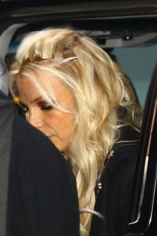 Britney Spears Reveals Visible Hair Extensions As She Arrives For