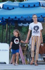 Alessandra Ambrosio and her kids out and about in Los Angeles