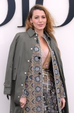 Blake Lively Attends the Christian Dior show as part of the Paris Fashion Week in Paris