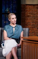 Kristen Bell At Late Night with Seth Meyers in New York