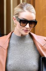 Rosie Huntington-Whiteley Outside her Hotel During Paris Fashion Week